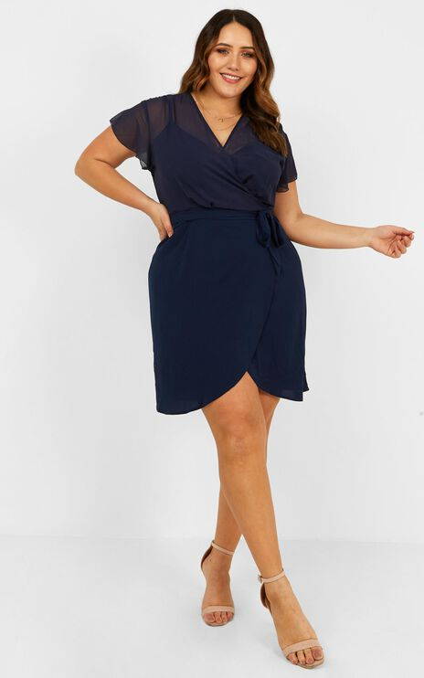 Kicking Goals Dress in Navy