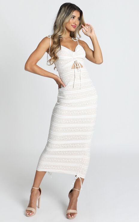 Dont Slip Away Dress In White Lace