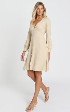 Viewed From A Far Dress In Beige
