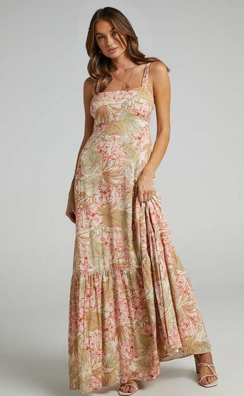 Honor Dress in Palm Print