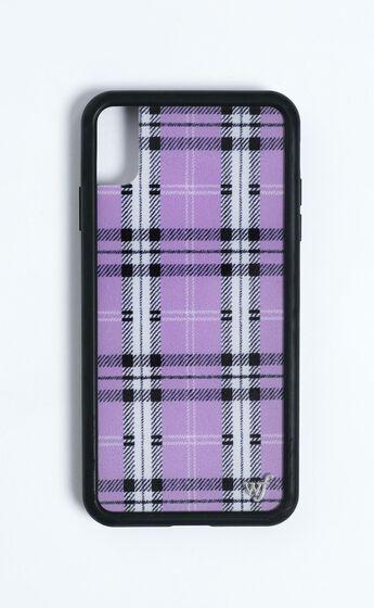 Wildflower - Iphone Case in Lavender Plaid