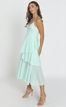 Hibiscus Dress In Saga Green