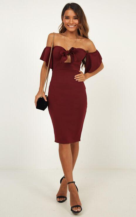 Guest Edit Dress In Wine