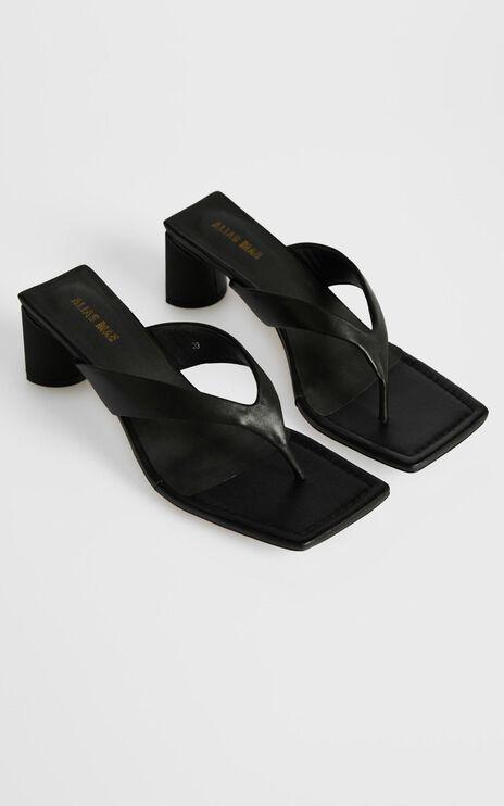 Alias Mae - Noah Sandals in Black Kid Leather