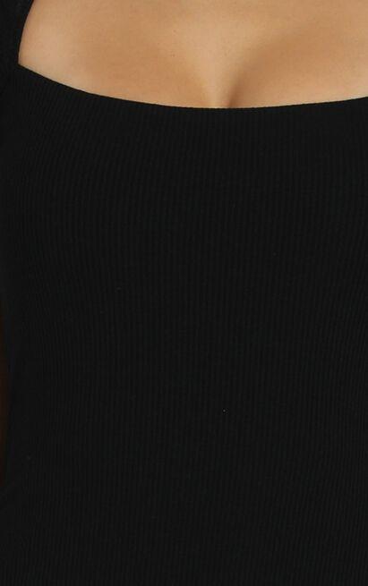 Defying Gravity Dress in black rib - 12 (L), Black, hi-res image number null