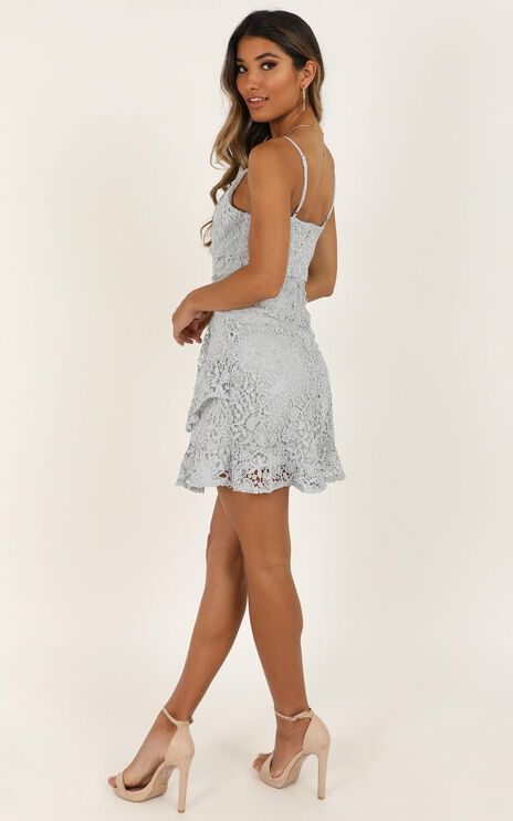 Cryptic Love Dress In Grey Lace