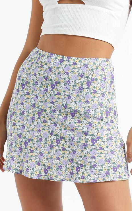 Iyesha Skirt in Purple Floral