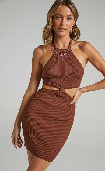 Demascio Dress in Brown