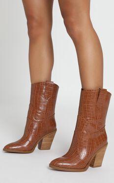 Billini - Quill Boots In Tan Croc