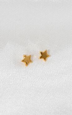 Midsummer Star - Astra Star Stud Earrings In Gold
