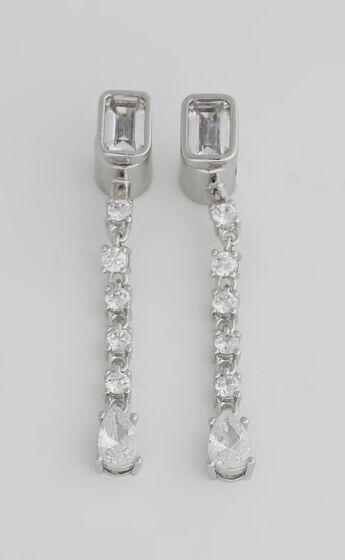 Luv AJ - Sylvie Stone Drop Studs in Silver