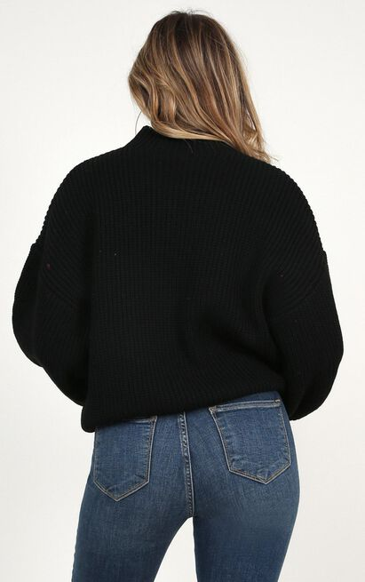 I Feel Love Oversized Knit sweater In black - 20 (XXXXL), Black, hi-res image number null