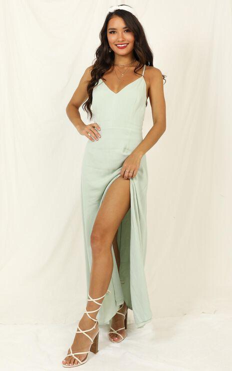 Ibiza Sunset Dress In Sage