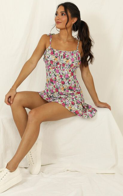 Go All The Way dress in pink floral  - 14 (XL), Pink, hi-res image number null