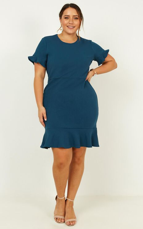 Authority Dress In Teal