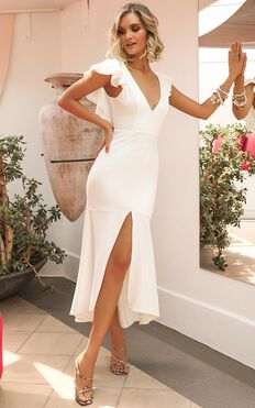 Dancing Down The Street Dress In White