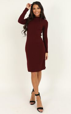 Bring It On Dress In Wine