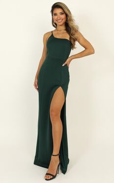 No Ones Fault Dress In Emerald