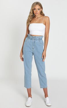 Abbie Jeans In Light Blue Denim