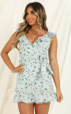 Weight Of The World Dress In Sage Floral