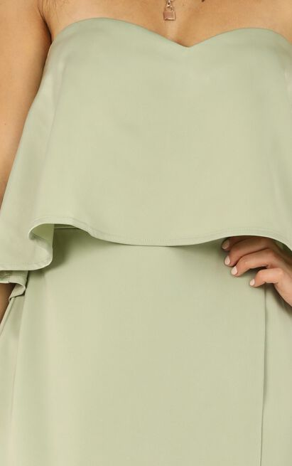 Your Voice Is Soft Like Summer Rain Dress  in sage - 20 (XXXXL), Sage, hi-res image number null