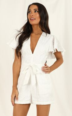 Little Rebels Playsuit in White