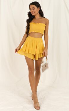Adore You Two Piece Set In Mustard