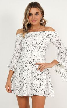 Break My Heart Dress In White Spot