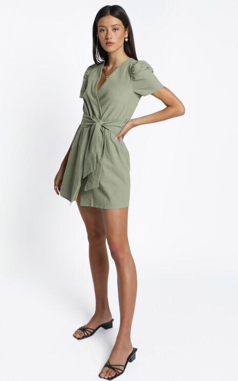 Marquise Dress in Khaki
