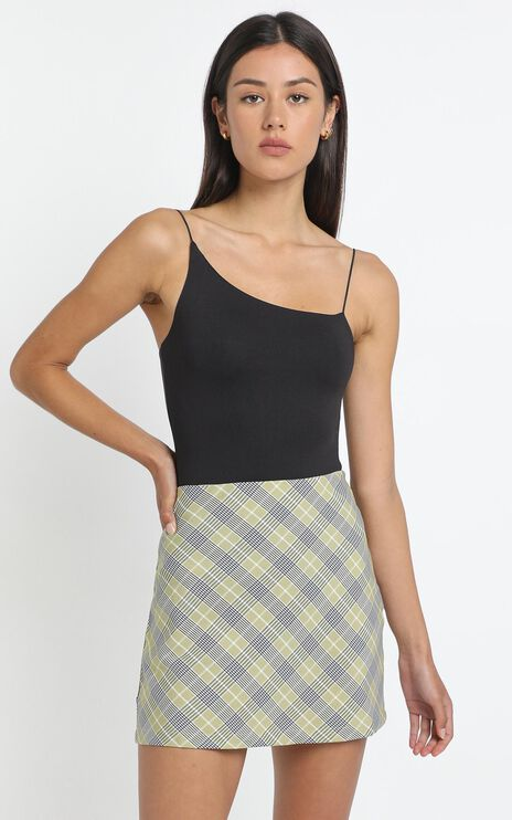 Cyndall Skirt in Sage Check