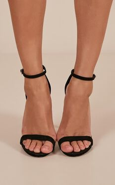 Billini - Dimity Heels In Black Micro