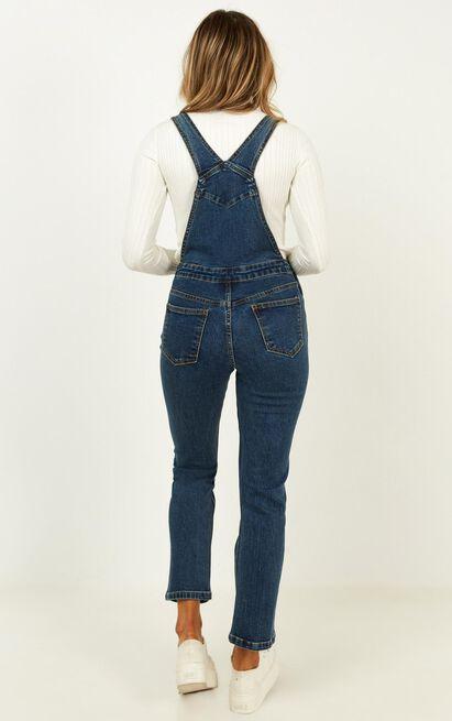 Life To Live Jumpsuit In mid vintage wash - 12 (L), Blue, hi-res image number null