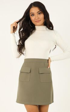 You Want To Be Known Skirt In khaki