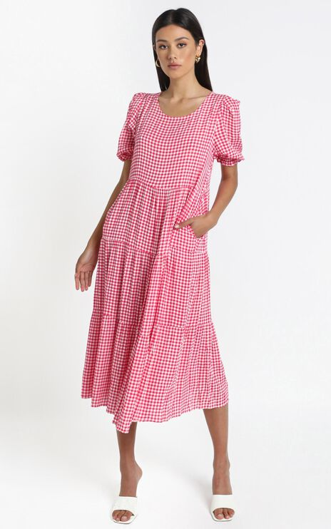 Orla Dress in Pink Check