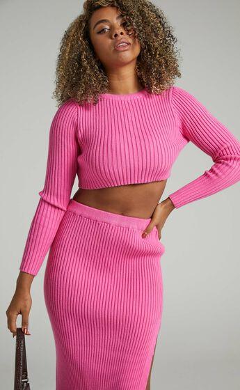 Kodah Knit Jumper in Hot Pink