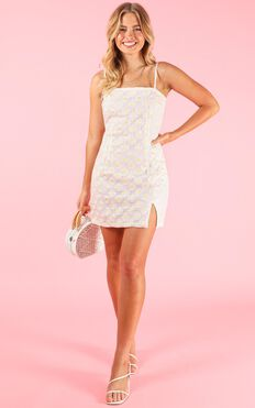 Angelic Being Dress In White Floral