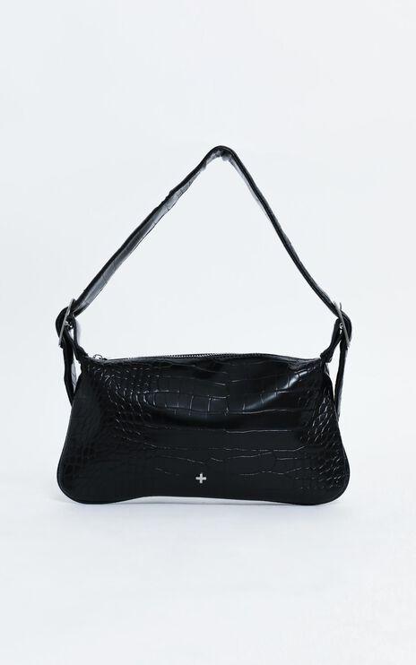 Peta and Jain - Salem Bag in Black Croc