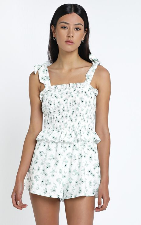Solay Playsuit in Sage Floral