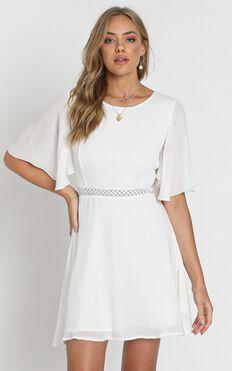 Missing Sun Dress in White