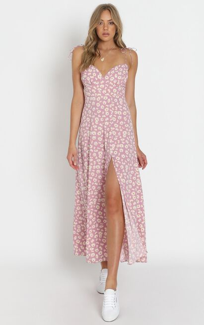 Groove On Dress in pink floral - 20 (XXXXL), Pink, hi-res image number null