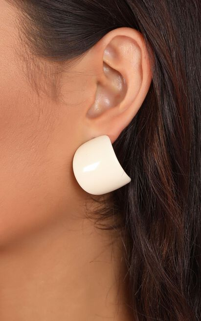 All Night Long Earrings In White, White, hi-res image number null