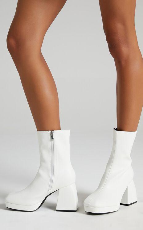 Public Desire - Imagine Boots in White