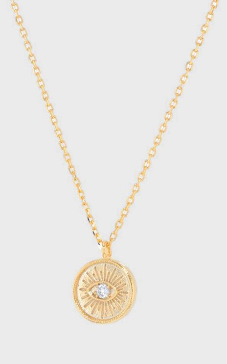 Jolie & Deen - Emilia Eye Necklace in Gold