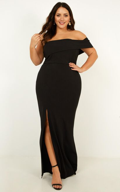 Glamour Girl maxi dress in black - 20 (XXXXL), Black, hi-res image number null