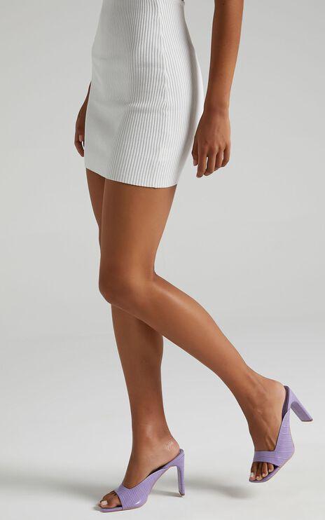 Public Desire - Abelle Heels in Lilac Croc