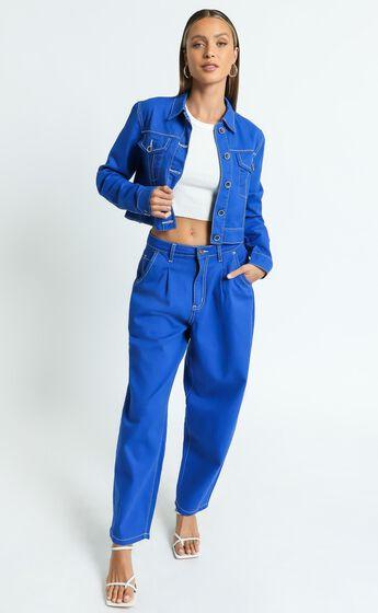 Lioness - On My Way Denim Jean in Cobalt Blue