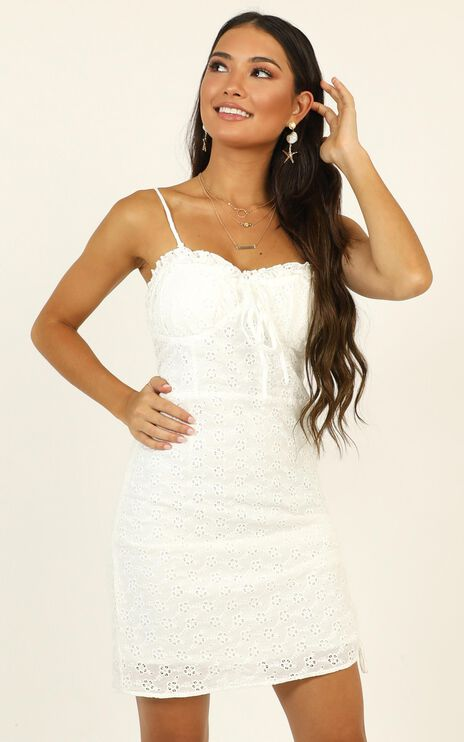 Take The Hint Dress In White