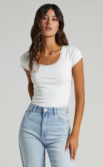 Napier T Shirt in White