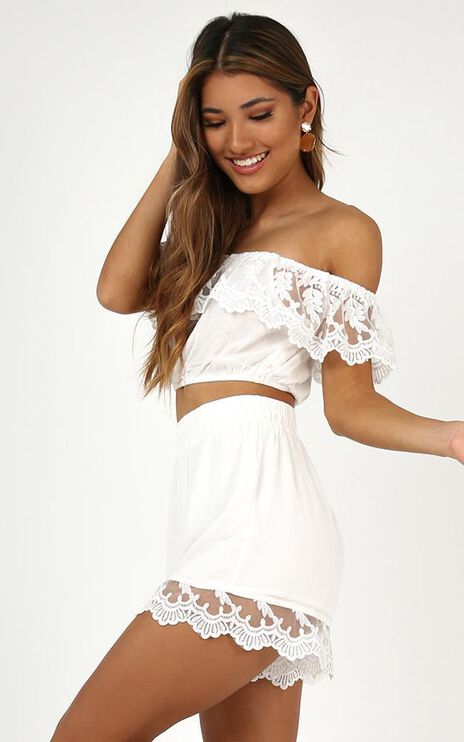 This Modern Love Two Piece Set In White