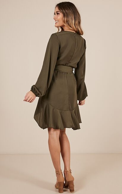 Lots To Give Dress in khaki - 12 (L), Khaki, hi-res image number null